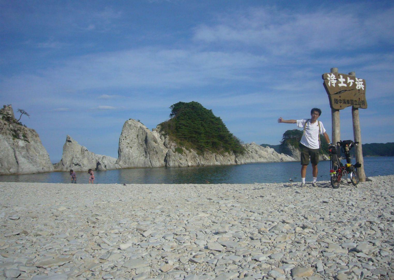 初めての海岸(^_^)b