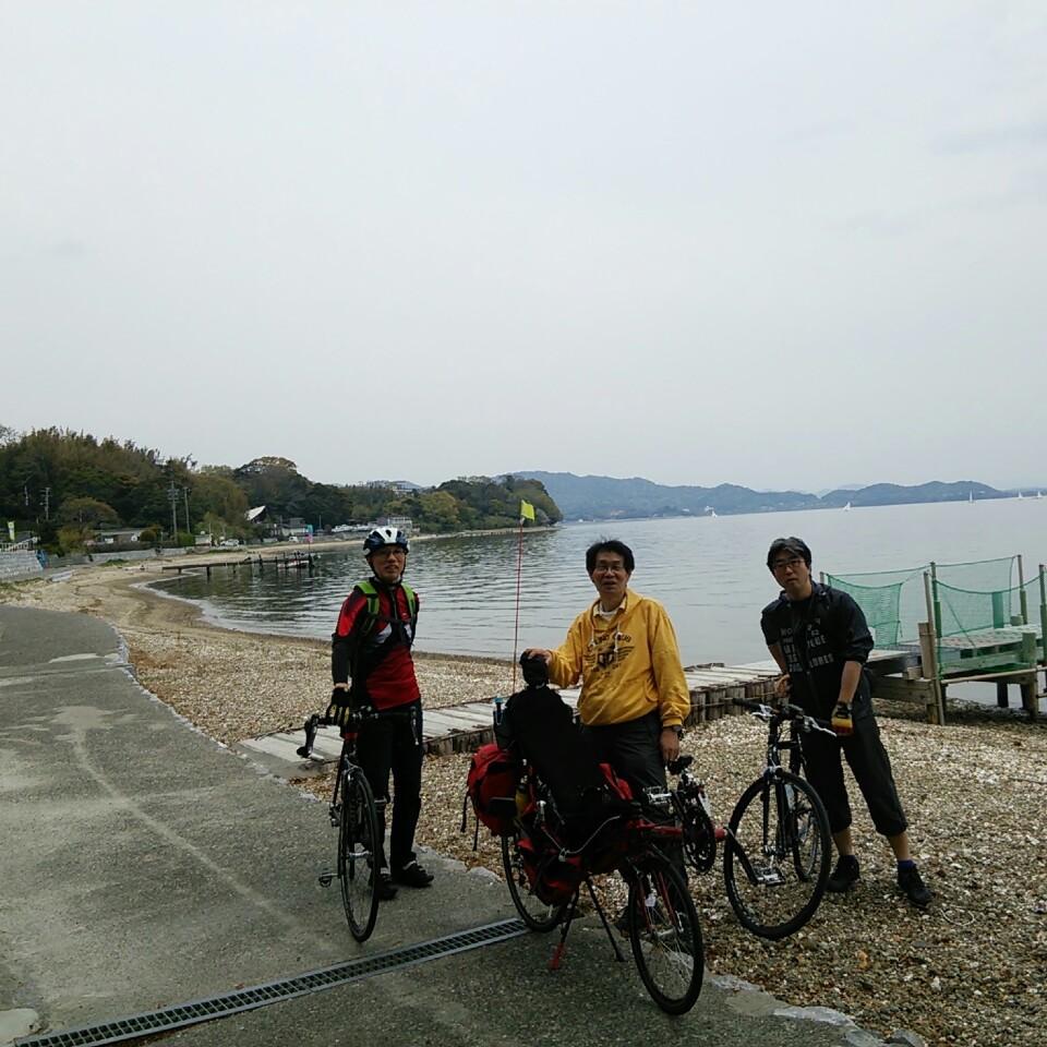 遊覧船でサイクリング(*^<br />  。^*)